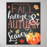 Fall Decor: fall breeze & autumn leaves Fall Print