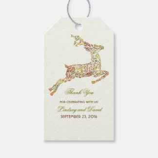 Fall Deer Wedding Thank You Gift Tags