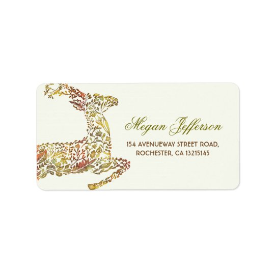 Fall Deer Woodland Wedding Address Labels