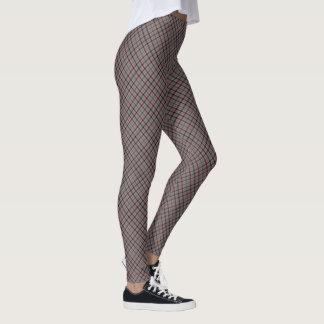 Fall Design Diagonal Plaid Comfy Leggings