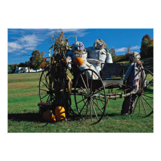 Fall display, scarecrows custom announcements