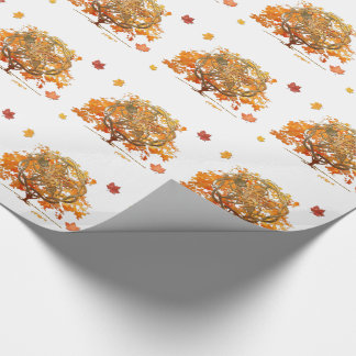 Fall Equinox Pagan Wiccan graphic. Wrapping Paper