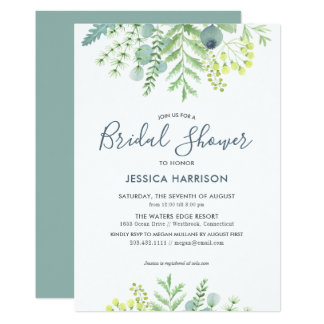 Fall Eucalyptus Floral Bridal Shower Invitation
