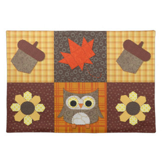 Fall Fabric Collage Placemat