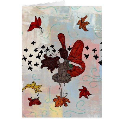 Fall Fairy Greeting Card (Blank Inside)