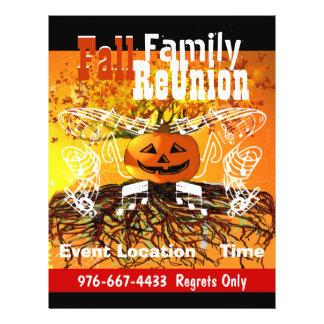 Fall  Family ReUnion Halloween Fall Event Flyer