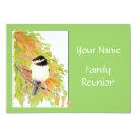 Fall, Family Reunion Invite, Nature, Bird 13 Cm X 18 Cm Invitation Card