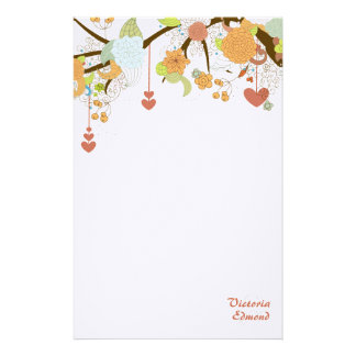 Fall Fantasy Floral Personalized Stationery
