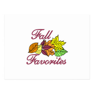 Fall Favorites Postcard