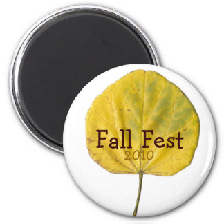 Fall Fest Customizable Leaf Magnet