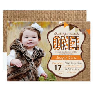 Fall First Birthday Invitation