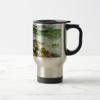 Fall Fishing - watercolor Stainless Steel Travel Mug