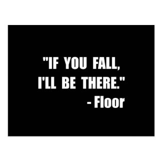 Fall Floor Quote Postcard