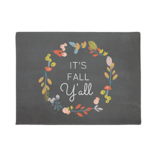 Fall Floral | It's Fall Y'all Doormat