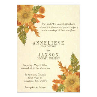Fall Floral Wedding Invitation | Zazzle