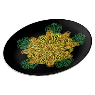 Fall Flower 1 Large Porcelain Plate
