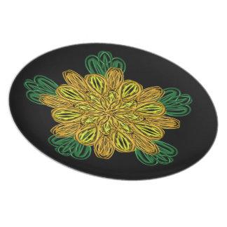 Fall Flower 1 Melamine Plate