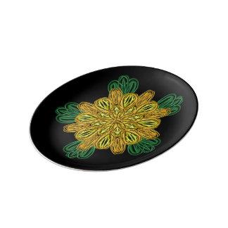 Fall Flower 1 Small Porcelain Plate