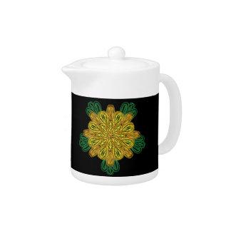 Fall Flower 1 Small Teapot