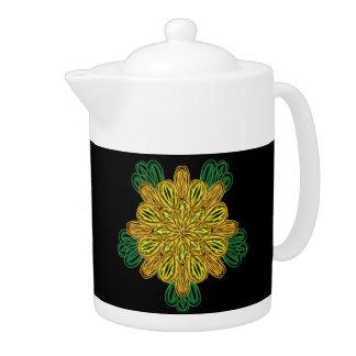 Fall Flower 1 Teapot