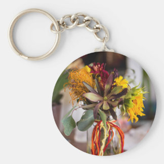 Fall Flower Arrangement Key Chain