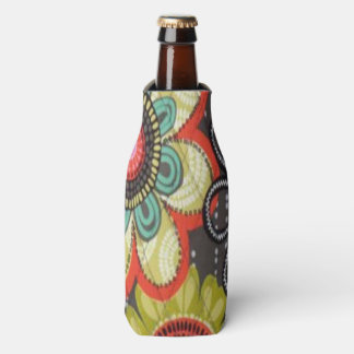 Fall Flowers Bottle Cooler