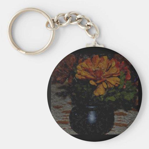 Fall Flowers in Cauldron Keychains