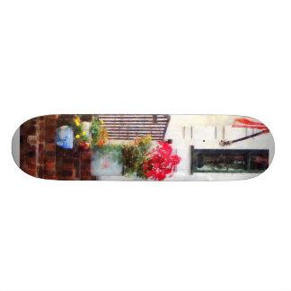 Fall Flowers in Fancy Pots Skateboard Deck
