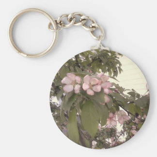 Fall Flowers Basic Round Button Key Ring