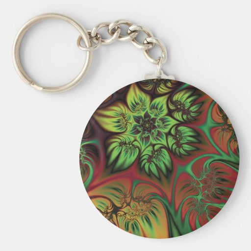 Fall Flowers Keychains