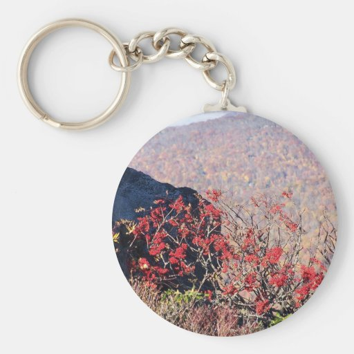 fall flowers key chain