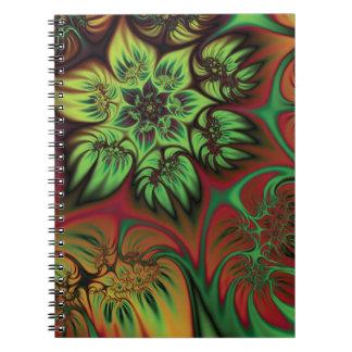 Fall Flowers Spiral Notebook