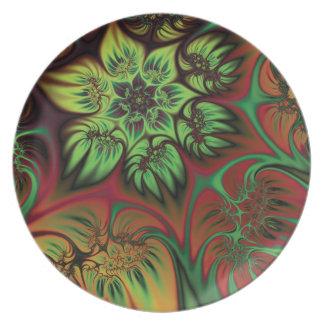 Fall Flowers Plates