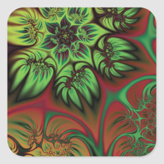 Fall Flowers Square Sticker