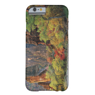 Fall foliage along Virgin River near gateway to Barely There iPhone 6 Case