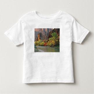 Fall foliage along Virgin River near gateway to Toddler T-Shirt