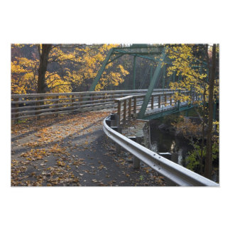 Fall foliage and a bridge over the Millers Photo Print