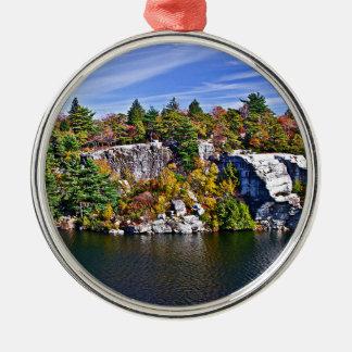 Fall Foliage around Lake Minnewaska Christmas Ornament