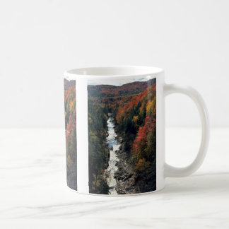 Fall foliage at Queechee Gorge, Queechee, Vermont, Coffee Mug