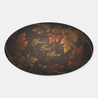 Fall Foliage Oval Sticker
