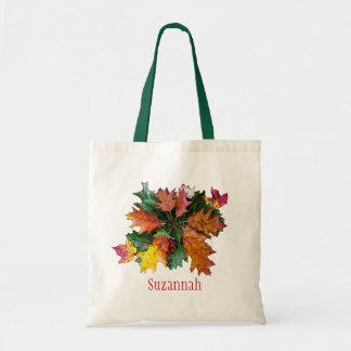 Fall Foliage Personalized Tote Bag