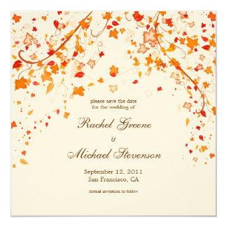 Fall Foliage Save the Date Wedding Card 13 Cm X 13 Cm Square Invitation Card