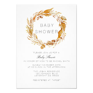 Fall Foliage Watercolor | Baby Shower Invite