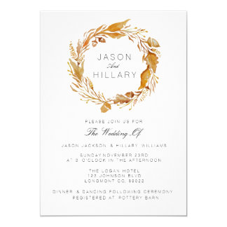 Fall Foliage Watercolor | Wedding Invite