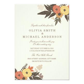 Fall Foliage Wedding Invitation