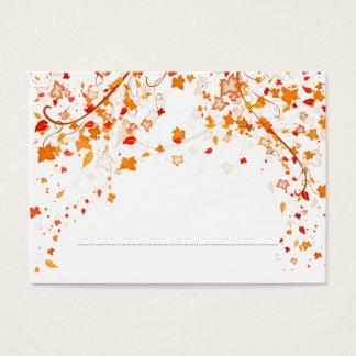 Fall Foliage Wedding Place Card