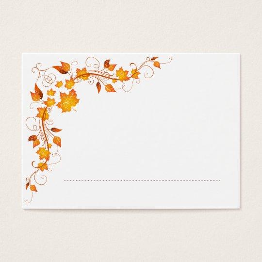 Fall Foliage Wedding Place Card 2