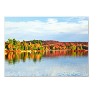 """Fall forest reflections 2 5"""" x 7"""" invitation card"""