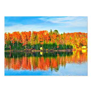 Fall forest reflections custom invites