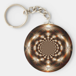 Fall fractal.png basic round button key ring